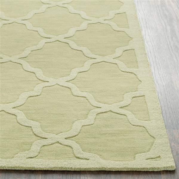 Surya Central Park Solid Area Rug - 8-ft x 10-ft - Rectangular - Grass Green