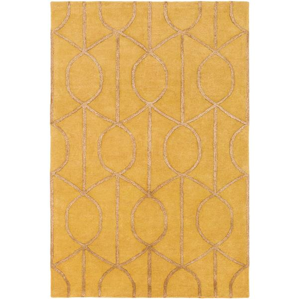 Surya Urban Transitional Area Rug - 4-ft x 6-ft - Rectangular - Mustard/Camel