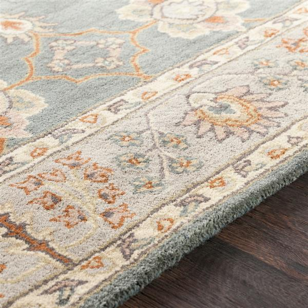 Surya Middleton Traditional Area Rug - 6-ft - Round - Teal/Taupe