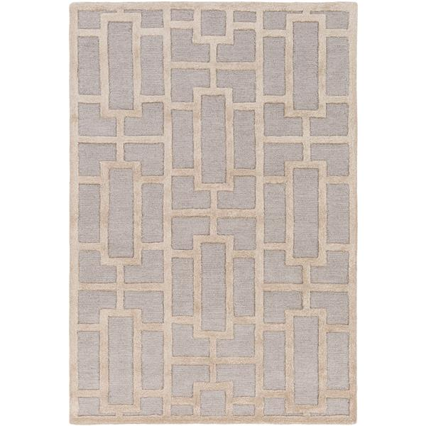 Surya Arise Modern Area Rug - 7-ft 6-in x 9-ft 6-in - Rectangular - Gray/Khaki