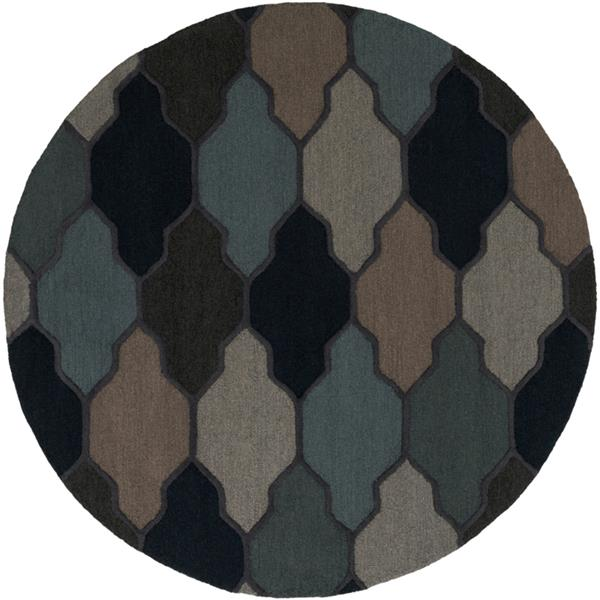 Surya Pollack Transitional Area Rug - 6-ft - Round - Charcoal