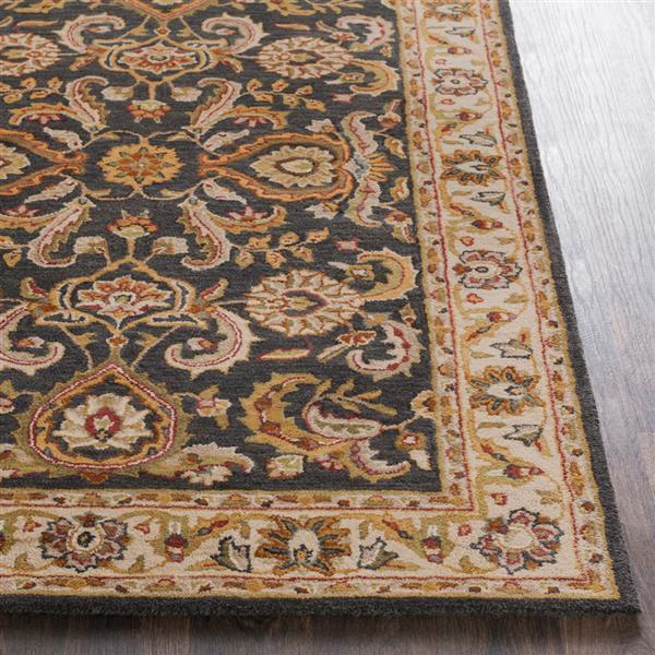 Surya Middleton Traditional Area Rug - 4-ft x 6-ft - Rectangular - Olive/Camel