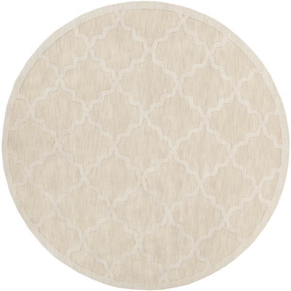 Surya Central Park Solid Area Rug - 9-ft 9-in - Round - Khaki