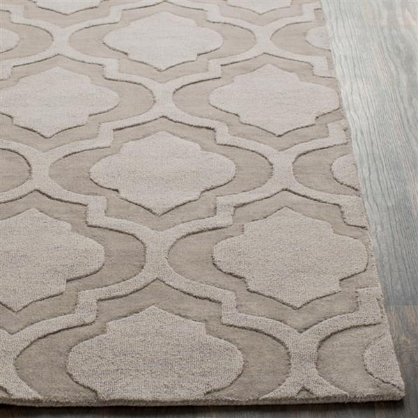 Surya Central Park Solid Area Rug - 7-ft 9-in - Round - Taupe, Mauve