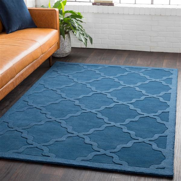 Surya Central Park Solid Area Rug - 4-ft x 6-ft - Rectangular - Navy