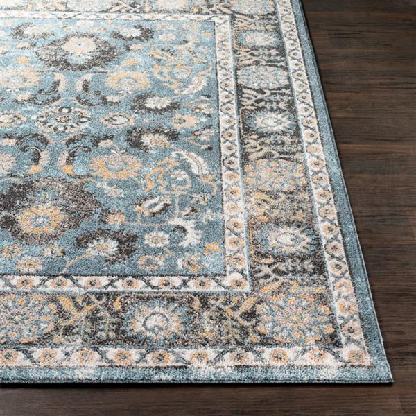 Surya Azul Updated Traditional Area Rug - 5-ft 3-in x 7-ft 3-in - Rectangular - Aqua