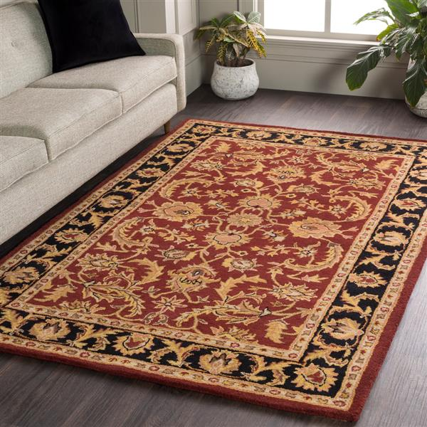 Surya Middleton Transitional Area Rug - 6-ft - Round - Black/Clay