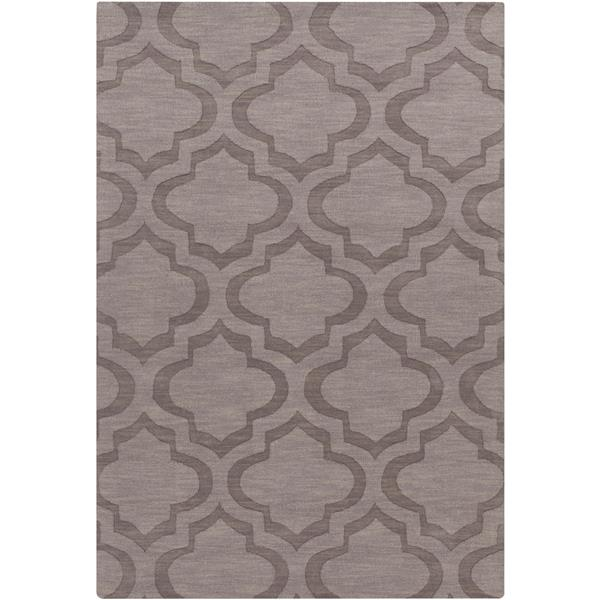 Surya Central Park Solid Area Rug - 10-ft x 14-ft - Rectangular - Taupe, Mauve