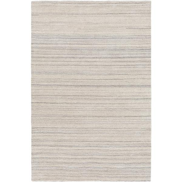 Surya Adyant Solid Area Rug - 5-ft x 7-ft 6-in - Rectangular - Light Gray