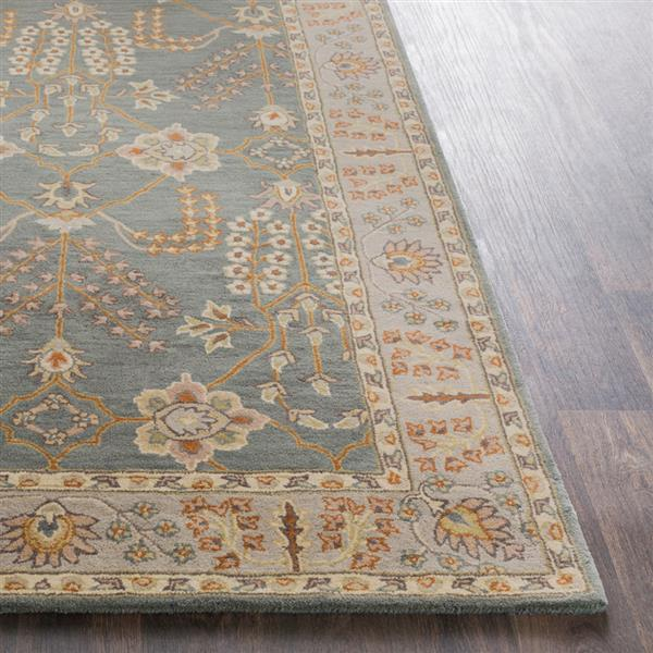 Surya Middleton Traditional Area Rug - 5-ft x 8-ft - Rectangular - Teal/Taupe