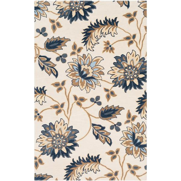 Surya Athena Transitional Area Rug - 5-ft x 8-ft - Rectangular - Beige
