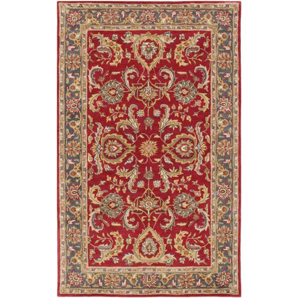 Surya Middleton Traditional Area Rug - 3-ft x 5-ft - Rectangular - Red/Tan
