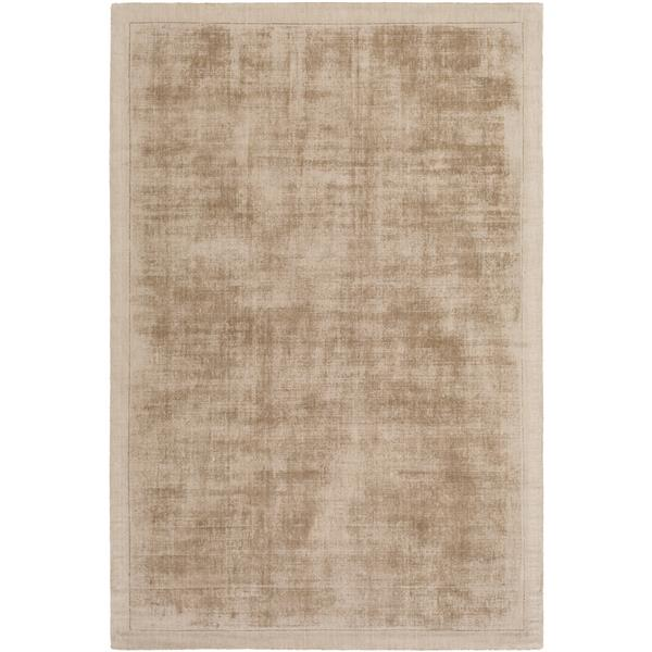 Surya Silk Route Solid Area Rug - 5-ft x 7-ft 6-in - Rectangular - Khaki