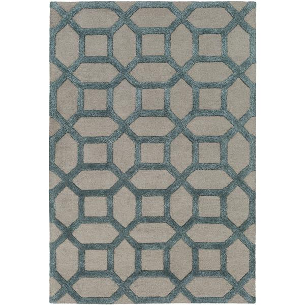Surya Arise Transitional Area Rug - 8-ft x 11-ft - Rectangular - Gray/Sky Blue