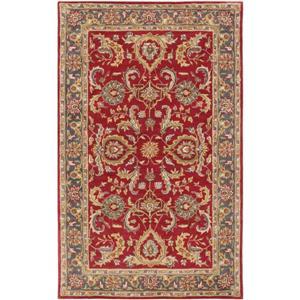 Surya Middleton Traditional Area Rug - 4-ft x 6-ft - Rectangular - Red/Tan