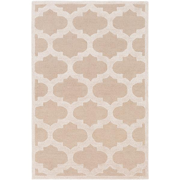 Surya Arise Transitional Area Rug - 8-ft x 11-ft - Rectangular - Khaki/Beige