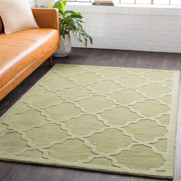 Surya Central Park Solid Area Rug - 6-ft x 9-ft - Rectangular - Grass Green