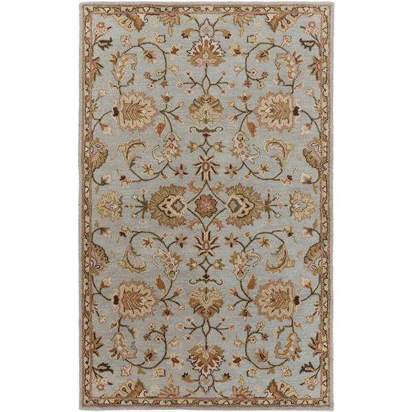Surya Middleton Traditional Area Rug - 6-ft x 9-ft - Rectangular - Gray/Khaki