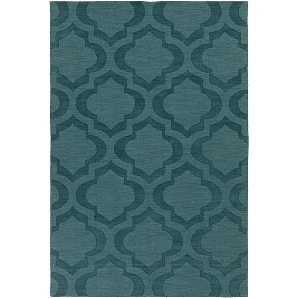 Surya Central Park Solid Area Rug - 10-ft x 14-ft - Rectangular - Teal