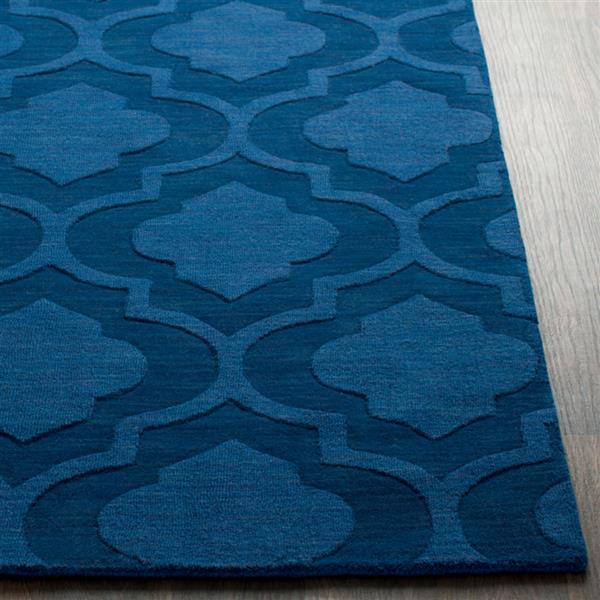 Surya Central Park Solid Area Rug - 3-ft x 5-ft - Rectangular - Dark Blue