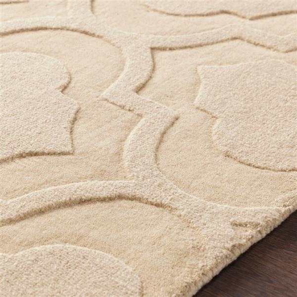 Surya Central Park Solid Area Rug - 7-ft 9-in - Round - Khaki