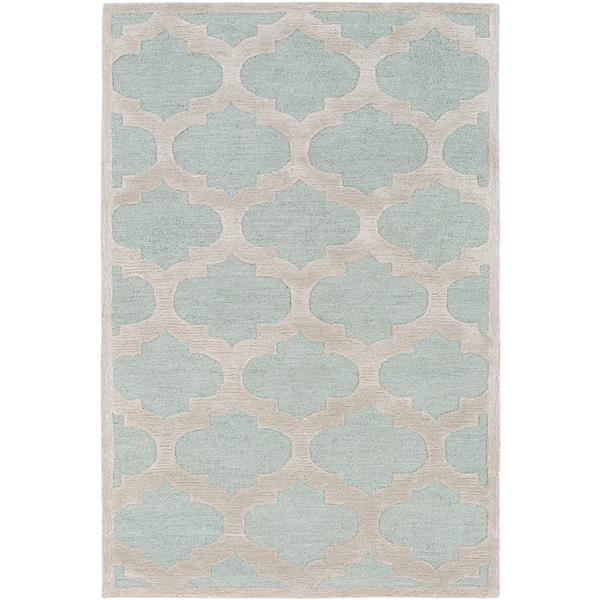 Surya Arise Transitional Area Rug - 6-ft x 9-ft - Rectangular - Mint/Beige