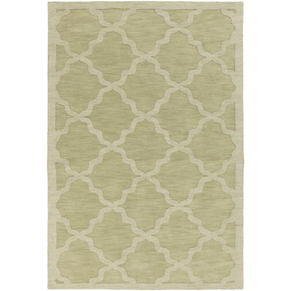 Surya Central Park Solid Area Rug - 3-ft x 5-ft - Rectangular - Grass Green