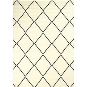 Novelle Home Fiona Rug - Diamond Pattern - 7.6-ft x 10.5-ft - White