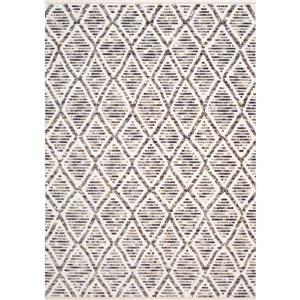 Kalora Nepal Rug - Latticework Pattern - 2.58-ft x 4.9-ft - Cream