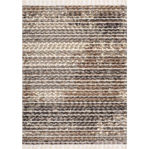 Kalora Colorado Rug - Faded Stripes - 2-ft x 3.58-ft - Beige