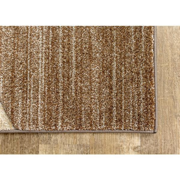 Kalora Freemont Rug - Curvilinear Lines - 7.8-ft x 10.5-ft - Beige