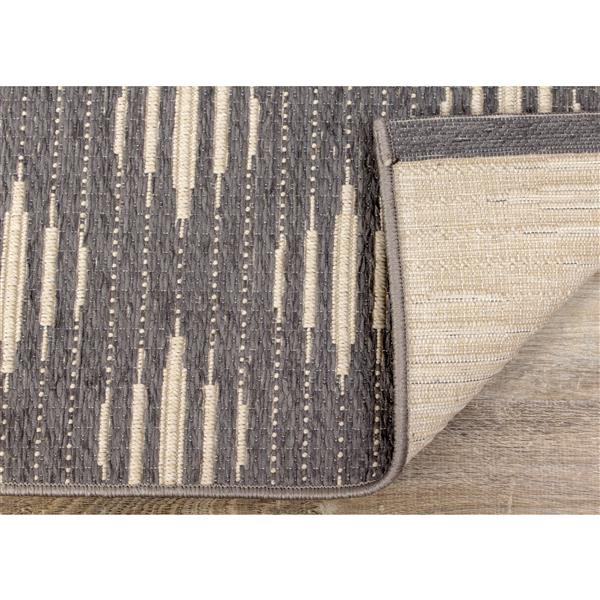 Kalora Vista Rug - Lattice Pattern - 7.8-ft x 10.83-ft - Grey