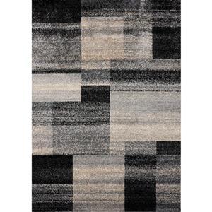 Tapis Siecle de Novelle Home, motif géométrique, 5, 25 pi x 7, 58 pi, crème