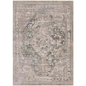 Tapis Evora de Kalora, motif traditionnel raffiné, 7, 8 pi x 10, 5 pi, gris