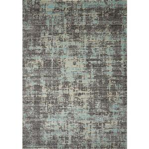 Tapis Zara de Novelle Home, motif abstrait, 5, 25 pi x 7, 58 pi, bleu