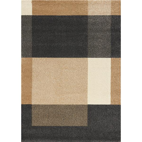 Novelle Home Burnley Rug - Modern Pattern - 5.25-ft x 7.58-ft - Beige