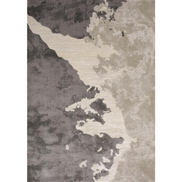 Kalora Alaska Rug - Abstract Lake - 5.25-ft x 7.58-ft - Beige