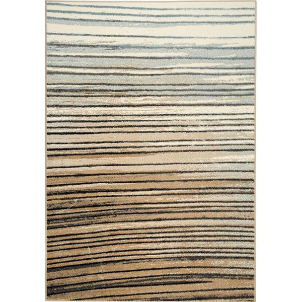 Novelle Home Castella Rug - Serene Arches - 5.25-ft x 7.58-ft - Blue