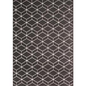 Tapis Parlour de Kalora, motif géométrique, 7, 8 pi x 10, 83 pi, gris