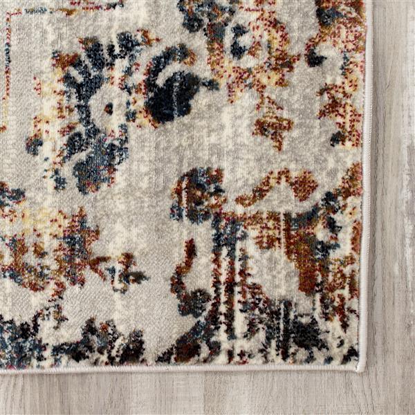 Kalora Sidra Rug - Faded Pattern - 2-ft x 7.58-ft - Cream
