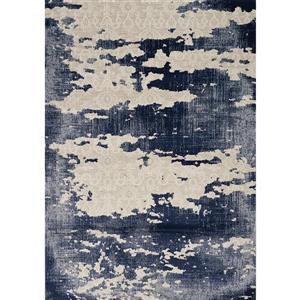Tapis Alida de Kalora, motif abstrait, 5, 08 pi x 7, 58 pi, beige