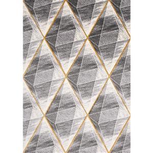 Tapis Soho de Kalora, géométrie moderne, 7, 8 pi x 10, 5 pi, gris