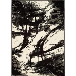 Tapis Castella de Novelle Home, motif abstrait, 5, 25 pi x 7, 58 pi, brun