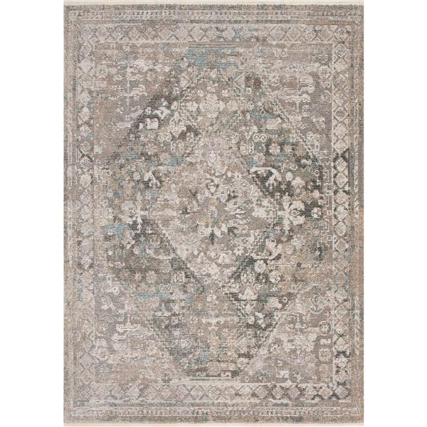 Kalora Evora Rug - Incricate Traditional Pattern - 5.25-ft x 7.58-ft - Grey