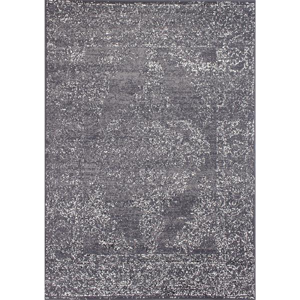 Novelle Home Fiona Rug - Finesse Traditional Pattern - 5.25-ft x 7.3-ft - Grey
