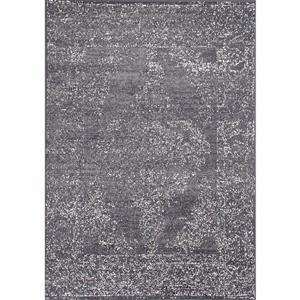Tapis Fiona de Novelle Home, motif traditionnel, 5, 25 pi x 7, 3 pi, gris
