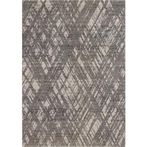 Novelle Home Zara Rug - Crosshatch Pattern - 5.25-ft x 7.58-ft - Blue
