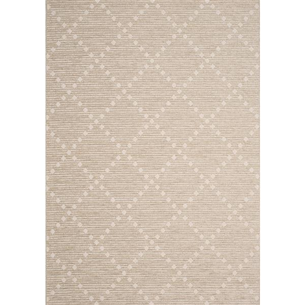 Kalora Vista Rug - Diamond Pattern - 7.8-ft x 10.83-ft - Beige