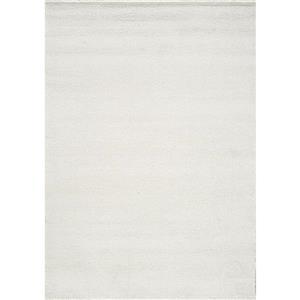 Tapis Sparkle de Novelle Home, 2, 6 pi x 4, 9 pi, blanc