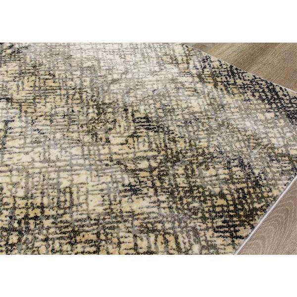 Kalora Sidra Rug - Crosshatch Pattern - 5.08-ft x 7.58-ft - Cream